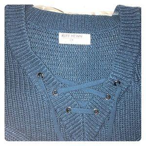 Ruff Hewn lace up sweater